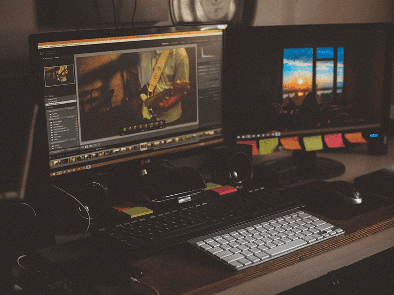 Using editing software to create the crowdfunding video length.