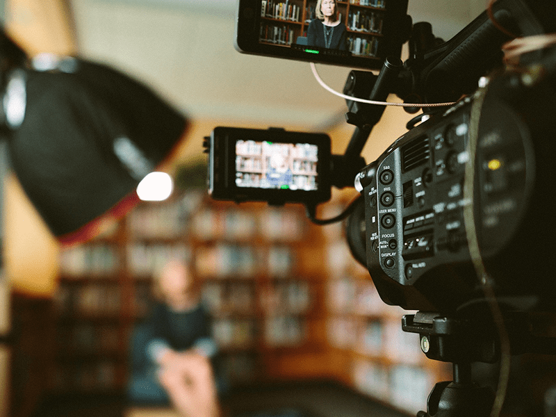 Tips for a successful crowdfunding campaign: Video camera on set