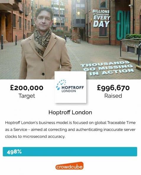 Hoptroff crowdfunding campaign
