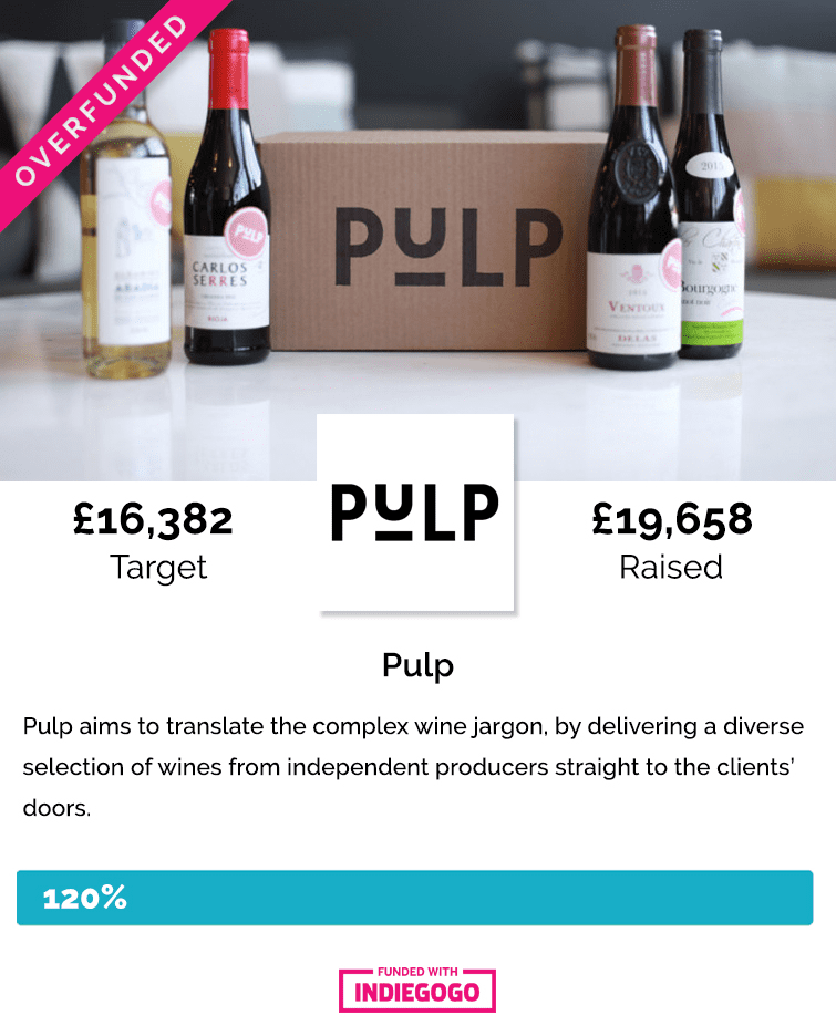 Pulp Indiegogo crowdfunding campaign