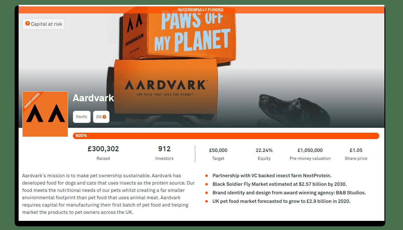 Aardvark UK Crowdfunding campaign by Drop Studio