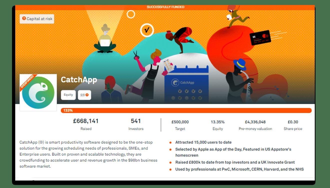CatchApp Crowdcube Crowdfunding Campaign