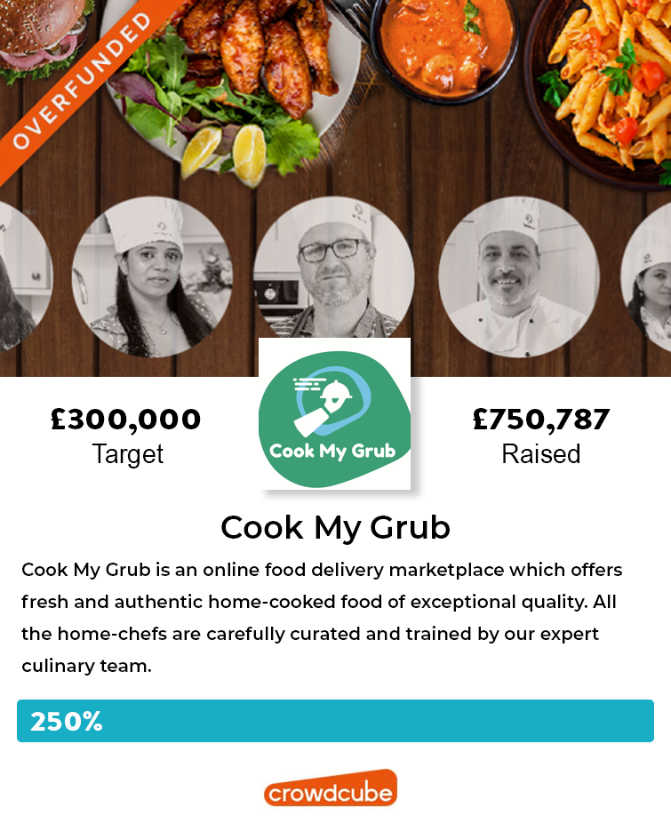 Cook my Grub - raised more than double their fundraising target